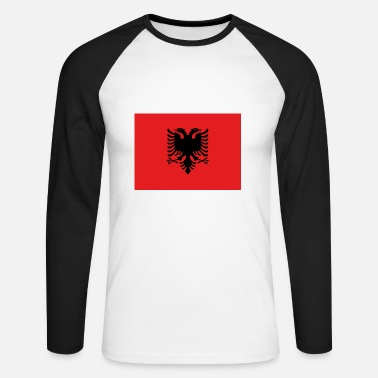 Bandera Flag of Albania - T-shirt baseball manches longues Homme