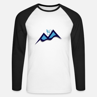 Mountain Bike Mountain bike - mountain bike - Men's Long Sleeve Baseball T-Shirt