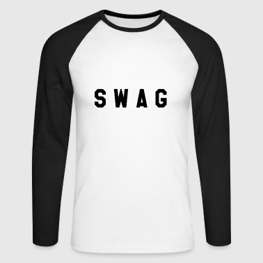 SWAG - Langermet baseball-skjorte for menn