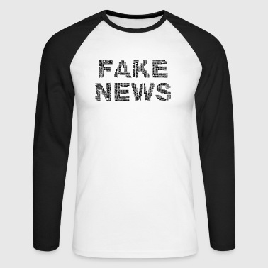 FAKE NEWS - T-shirt baseball manches longues Homme