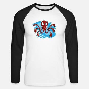 Octopus - Men's Longsleeve Baseball T-Shirt