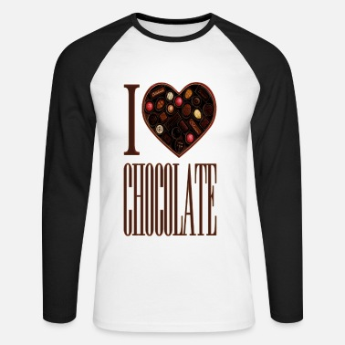 I Love Chocolate - Men's Long Sleeve Baseball T-Shirt