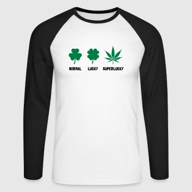Cannabis / Hemp / Shamrock - Super Lucky mode - Men's Long Sleeve Baseball T-Shirt
