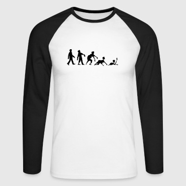 EVOLUTION ZOMBIE - Men's Long Sleeve Baseball T-Shirt