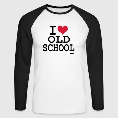 i love old school by wam - Männer Baseballshirt langarm