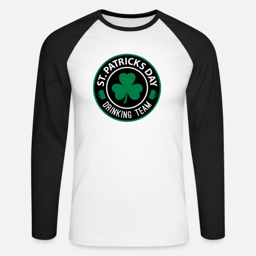 St Patricks Day Drinking Team Manner Baseball Langarmshirt