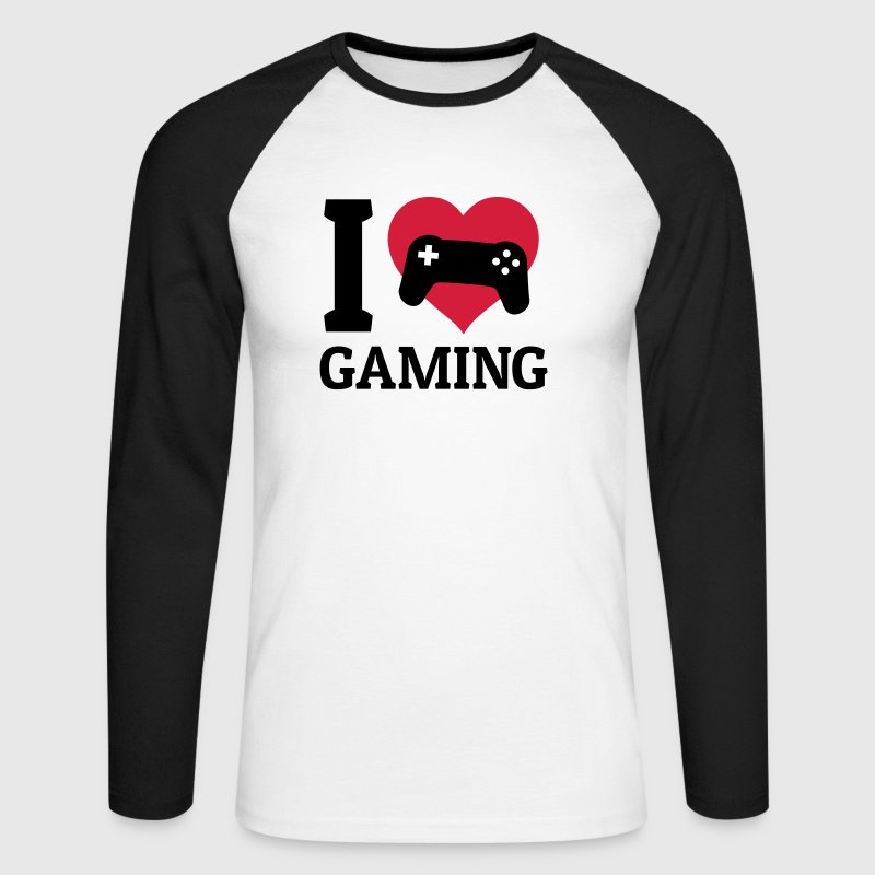 I love gaming - Men's Long Sleeve Baseball T-Shirt