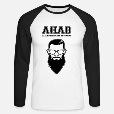 Mosh ALL HIPSTERS ARE BASTARDS - Funny Parody  - Männer Baseballshirt langarm