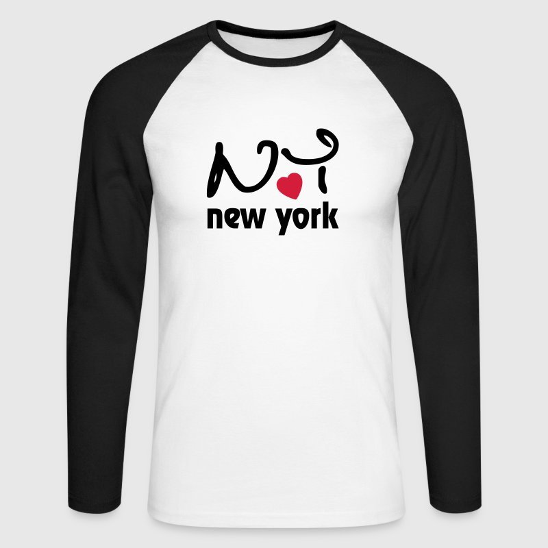 I Love New York - T-shirt baseball manches longues Homme