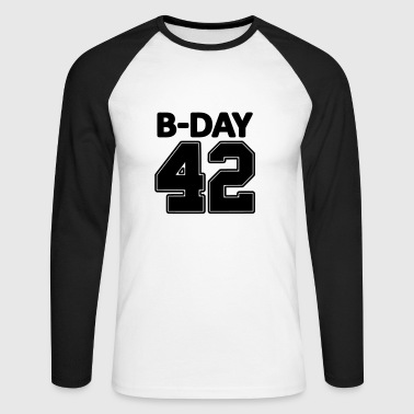 Jersey Number Number 42 / 42nd birthday number jersey number - Men's Long Sleeve Baseball T-Shirt