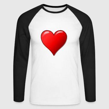 Nice heart for the perfect love! - Men's Long Sleeve Baseball T-Shirt