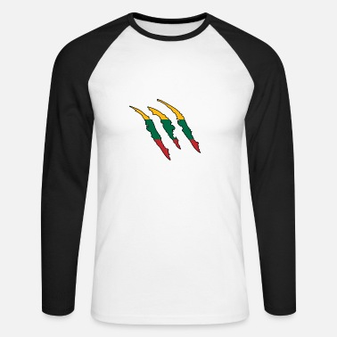 Lithuania Gift Claw Wild Land Home Lithuania - Men's Long Sleeve Baseball T-Shirt