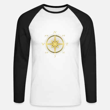 compass - Men's Longsleeve Baseball T-Shirt