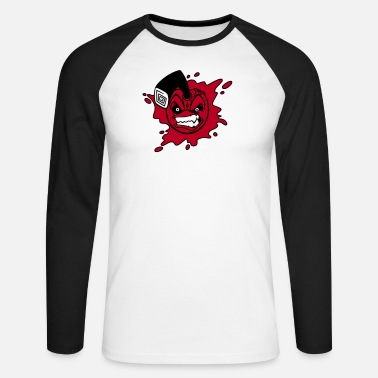 Angry Angry cherry - Mannen baseball longsleeve