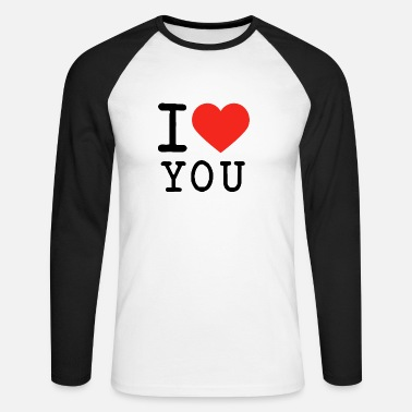 I Love I love I love U - Men's Long Sleeve Baseball T-Shirt