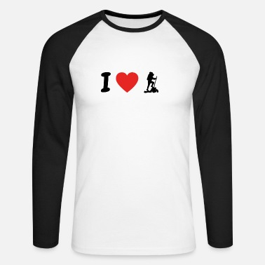 Randonnée J  39 aime la randonnée randonnée randonnée .png - T-shirt. T-shirt  manches longues baseball Homme a91085ab0c9b