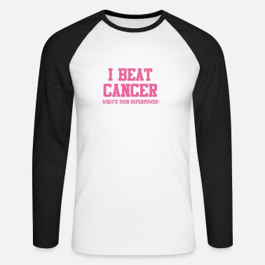 Breast Cancer Awareness Beat Krebs What is your superpower? - Men's Long Sleeve Baseball T-Shirt