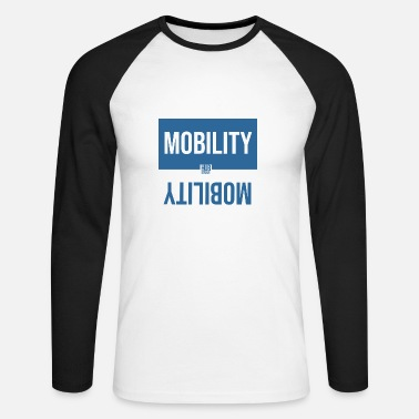 Large MOBILITY LARGE - Men's Long Sleeve Baseball T-Shirt