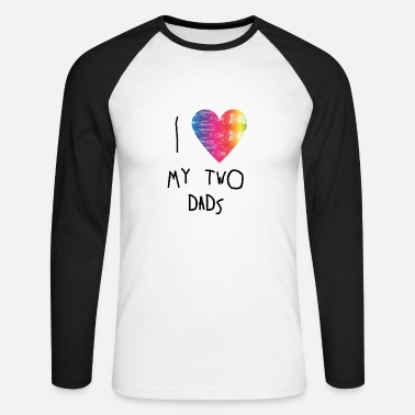 Parents Rainbow kid Gift - LGBT Parents - Two Fathers - Men's Longsleeve Baseball T-Shirt
