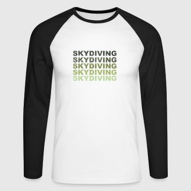 Skyrim Skydiving grunge - Men's Long Sleeve Baseball T-Shirt