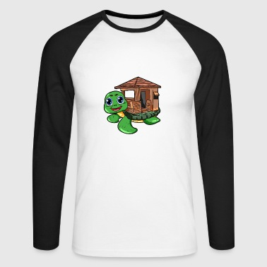 Turtle House Turtle House - Langermet baseball-skjorte for menn