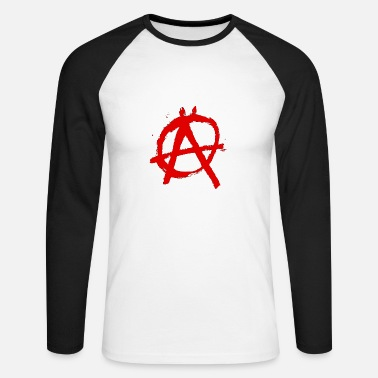 Anarchy logo - Men's Long Sleeve Baseball T-Shirt