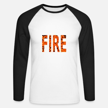 Incendie INCENDIE - T-shirt baseball manches longues Homme