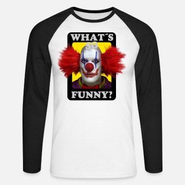 Whats so funny Bad Clown - T-shirt manches longues baseball Homme