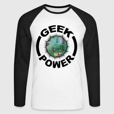 Geek power 02 - T-shirt baseball manches longues Homme