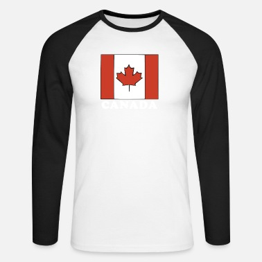 Canada Flag Canada Flag Canadian Flag - Men's Long Sleeve Baseball T-Shirt