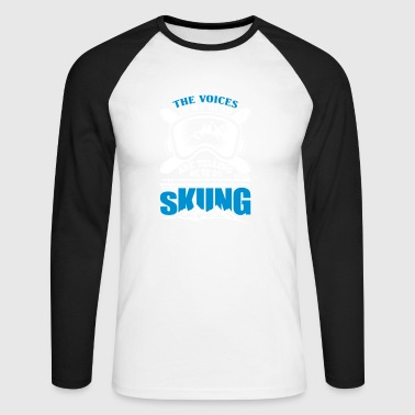 Aspen Funny skier snowboarding winter sport ski ar - Men's Long Sleeve Baseball T-Shirt