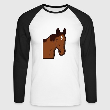 Chevalerie Cheval Cheval Cheval Chevaux Cheval Sauvage Poney - T-shirt baseball manches longues Homme