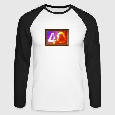 40 ans - photo anniversaire - T-shirt baseball manches longues Homme