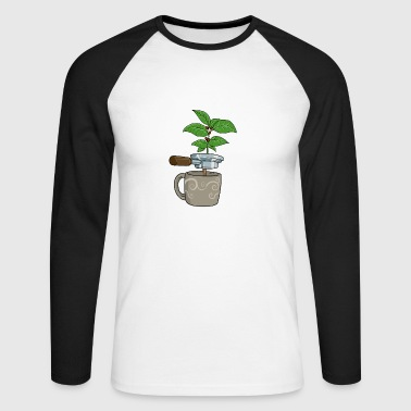 Coffee coffee machine - Men's Long Sleeve Baseball T-Shirt