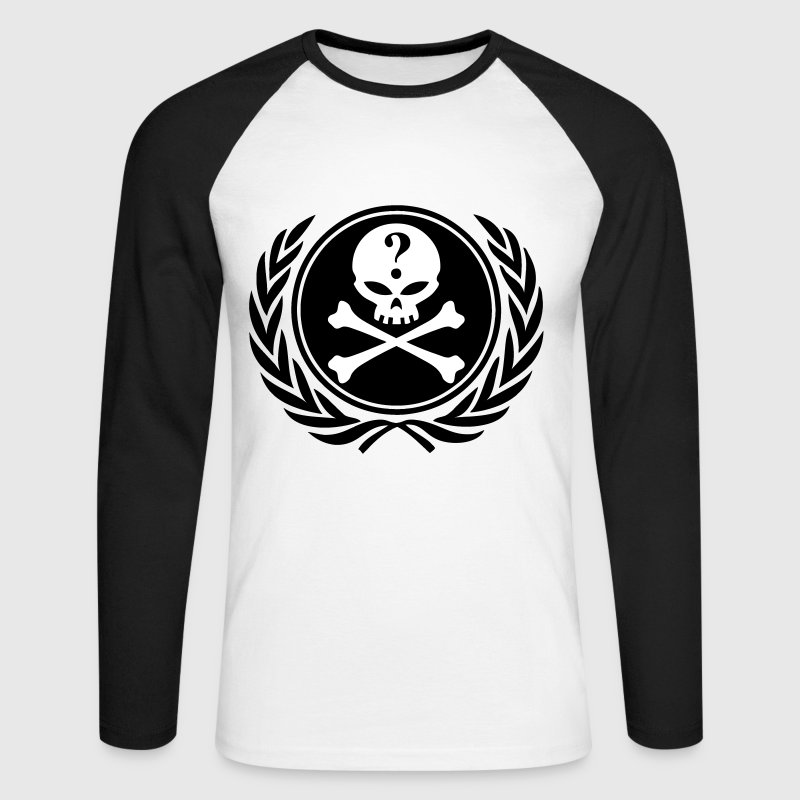 anonymous skull - Men's Long Sleeve Baseball T-Shirt