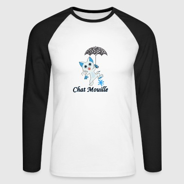 Chat mouille - T-shirt baseball manches longues Homme