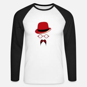 chapeau lunette ronde hispter moustache 2704 b T-shirt premium Homme ... b4ed36db742d