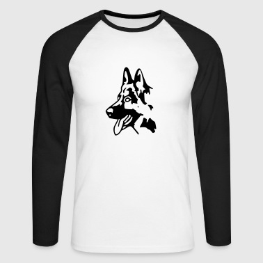 chien berger allemand - T-shirt baseball manches longues Homme