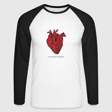 Corazon Beau coeur - Corazon Hermoso - T-shirt baseball manches longues Homme