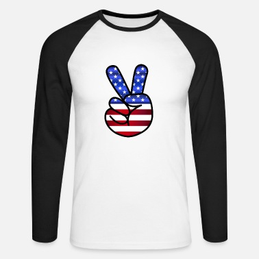 America America - Men's Long Sleeve Baseball T-Shirt