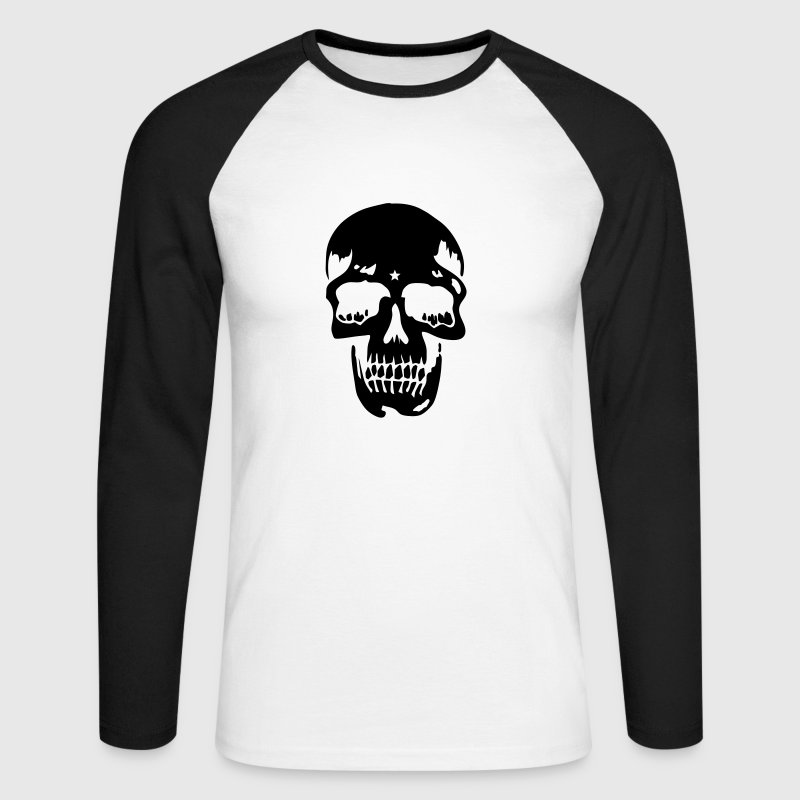skull pirate death heavy metal - T-shirt baseball manches longues Homme