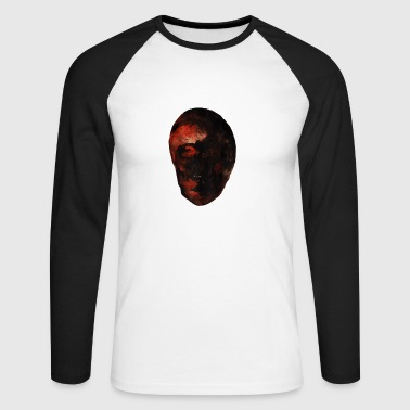 VISAGE- Head-Man-drawing-painting - Men's Long Sleeve Baseball T-Shirt