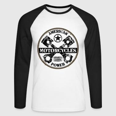 american motorcycles power 03 - T-shirt baseball manches longues Homme