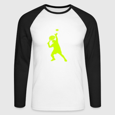 Joueur De Tennis Joueur de tennis Joueur de tennis - T-shirt baseball manches longues Homme