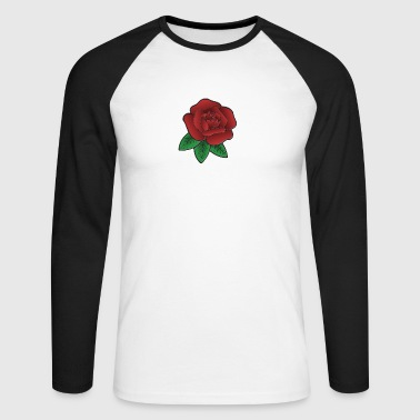 Rose rouge - T-shirt baseball manches longues Homme