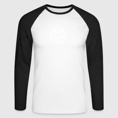Pentagram, devil, satan, grunge - Men's Long Sleeve Baseball T-Shirt