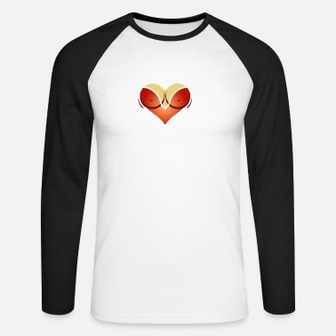 Cleavage Heart-shaped Woman's Breasts With Deep Cleavage - Men's Long Sleeve Baseball T-Shirt