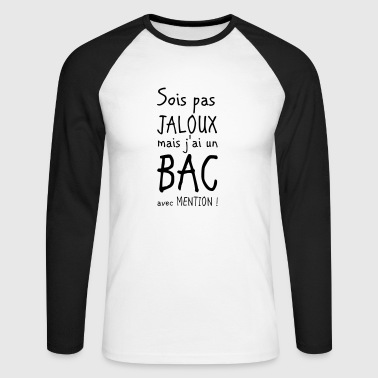 Bac Bac avec mention - T-shirt baseball manches longues Homme