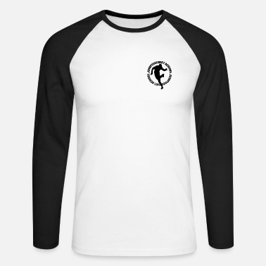 Jumpstyle Blanc/noir Jumping Is Not a Crime Manches Longues Hommes - T-shirt baseball manches longues Homme