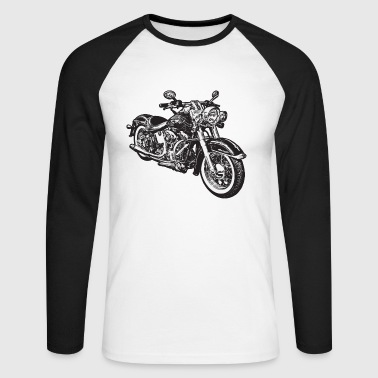 chopper hog bike motorrad - T-shirt baseball manches longues Homme